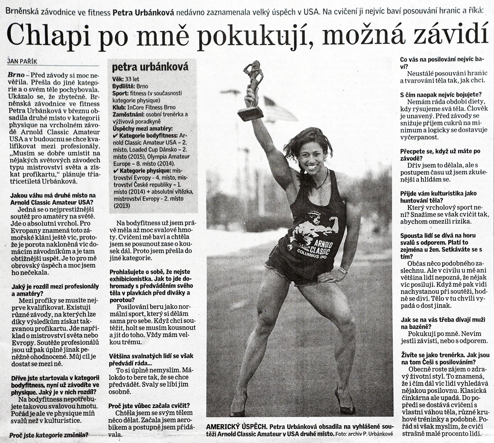 Článek v Brněnském deníku
