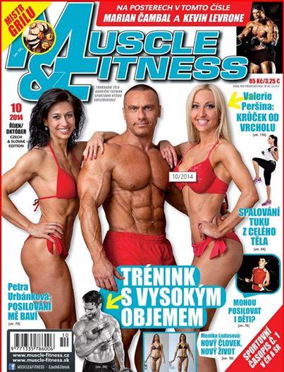 Fotka na titulní stránce časopisu Muscle a Fitness